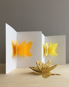 schaeresteipapier: Pop-up-Karte mit Schmetterlingen