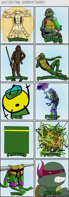 Teenage Mutant Ninja Turtles - Art History Lesson  I want this for my classroom!!!