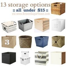 Ordinaire Storage Bin Options {for Kallax/Expedit}