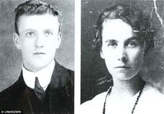 Jock Hume, played the violin in Titanic's band. Starcrossed lovers: Jock Hume, left, in a portrait released by his family after the Titanic sank. Right, Mary Costin in