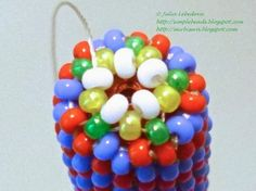 Beading for the very beginners: Pen decorated with seed beads in peyote stitch