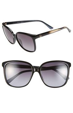 Gucci 57mm Retro Sunglasses | Nordstrom