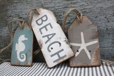 Beach House Wood Tags Wood Beach Sign Beach Decor Beach Wood