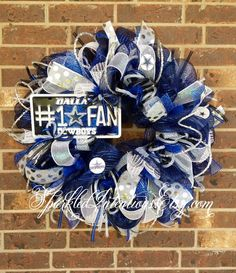 Dallas COWBOYS Deco Mesh Wreath by SparkledIntentions on Etsy