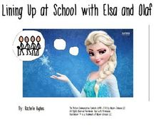 This is a social story with favorite Frozen characters Elsa and Olaf. This story focuses on lining up at recess time. Social Communication Disorder, Sensory Disorder, Behavior Interventions, Frozen Characters, Social Stories, Social Skills, Olaf, Lineup, Autism