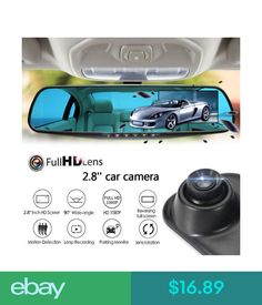Digital Video Recorders, Cards 1080P Hd Car Dvr Rearview Mirror Dash Cam Vehicle Camera Video Recorder #ebay #Electronics