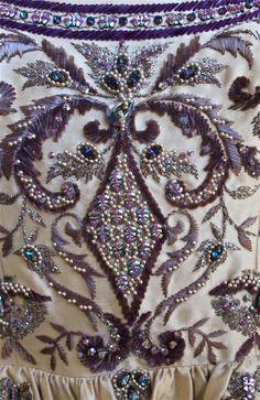 CASTILLO - JEANNE LANVIN haute couture gown with Lesage embroidery