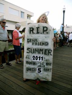 2011 Jazz Funeral for Summer - Bethany Beach, DE Beach Town, Beach House, Bethany Beach, Sussex County, Atlantic Ocean, Delaware, Funeral, Beaches, Jazz