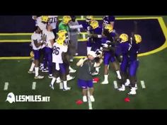A 10 minute loop of LSU football coach Les Miles dancing to Epic Sax Guy. Courtesy of Deadspin