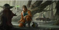 Luke's training with Yoda.