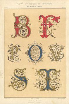 Illuminated letters.