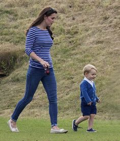 Prince George and Kate Middleton spend a day out at the polo. See all the adorable photos here: