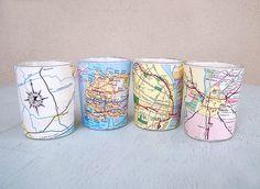 Map Tea Lights