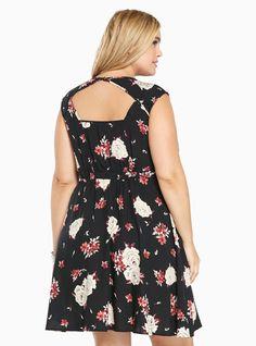 Torrid black challis dresses