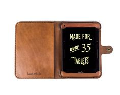 KINDLE VOYAGE ALL LEATHER CASE Need help making your order? Watch this short video. . . . . . . . . . . . . . . . . . . . . . . . . . . . . Construction time is 2 weeks. Free USPS Priority shipping to