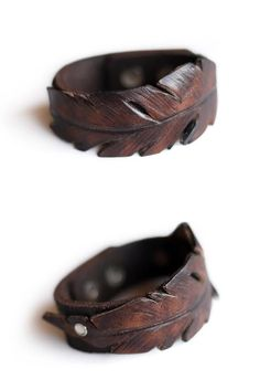 18 Ideas Jewerly Bracelets Leather Projects For 2019 Leather Carving, Leather Art, Leather Cuffs, Leather Tooling, Leather Jewelry, Leather And Lace, Leather Bracelets, Leather Store, Leather Leaf