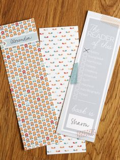 Print these for book club! Way CUTE bookmarks ~ Or so she says...