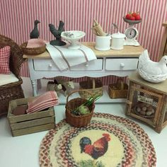 A single vintagestyle carpet for the dollhouse by Miniatyrmama