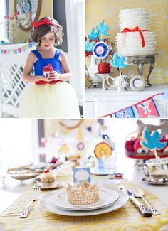 This is a cute Snow White themed #ChildrensParty but the goodies are ideal for a #redwedding theme