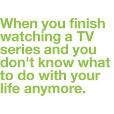 This is how I felt last summer when I watched all seasons of The West Wing for the first time!