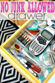 NO JUNK ALLOWED! Great tips to get rid of the junk for good! Junk drawer #organization | First Home Love Life #organize