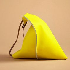16in Wedge  Lemon yellow leather by scabbyrobot on Etsy