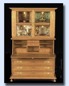 1:12 scale cabinet with 1:144 scale rooms, Taller Targioni