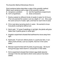 Worksheet Experimental Design Worksheet Scientific Method Answer Key worksheets scientific method and variables on pinterest 14 best images of worksheet scenarios identifying science answers t