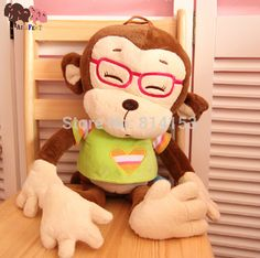 Cheap toy harmonica, Buy Quality gift cartons directly from China gift sword Suppliers: Cute 65cm YOCI big glass monkey plush doll stuffed soft baby animal toys best gift for Christmas Day free shipping&nbsp