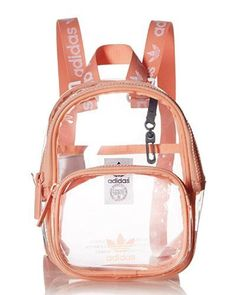 10 Clear Cute Backpacks For School & Travel Cute backpacks for teens - adidas O. 10 Clear Cute Backpacks For School & Travel Cute backpacks for teens – adidas Originals Mini Cle Girly Backpacks, Clear Backpacks, Cute Backpacks For School, Trendy Backpacks, Backpack For Teens, Mini Backpack, Travel Backpack, Bags For Teens, Cute School Supplies