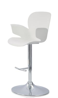 Calixo height adjustable bar stool/ studio high chair polypropylene wipe clean shell.