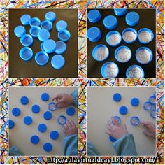 Reciclando : juego con tapones