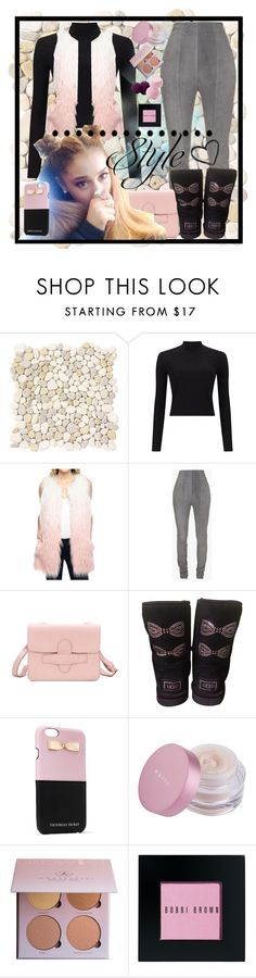 """""""BabyGirl style"""" by tropical-vegas-finest ❤ liked on Polyvore featuring WALL, Miss Selfridge, Balmain, UGG Australia, Victoria's Secret, Anastasia Beverly Hills, Bobbi Brown Cosmetics and Forever 21"""