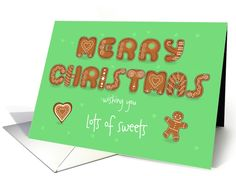 Merry Christmas. Wish you lots of sweets. Ginger cookies.... (1455572)