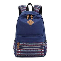 8f0c8e89bacc Hmxpls Fashionable Backpack School Bag. Cheap New Folk Striped College  Canvas ...