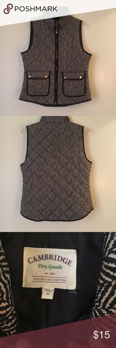 Light weight puffer vest Brown/grey & cream puffer vest. Light weight & great for layering! Worn once & in perfect condition. See last photo for close up of pattern. Cambridge Dry Goods Jackets & Coats Puffers