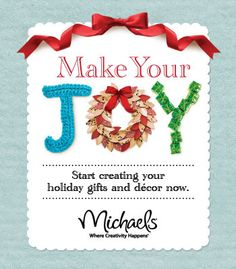 "Added the Michaels ""Make your Joy."" we would all enjoy winning the maid service!"