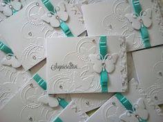 Partecipazioni Sognicreativi Wedding and Events: Partecipazioni matrimonio nozze bianco e tiffany tema farfalle Tiffany, Place Cards, Card Making, Xmas, Place Card Holders, Lettering, How To Make, Gifts, Wedding