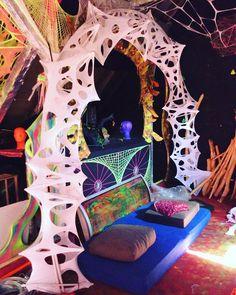 Goa, Bühnen Design, Psychedelic Decor, Alien Party, Psy Art, Neon Party, Raves, Stage Design, Festival Decorations