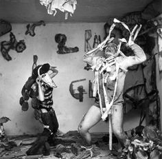 """1960s   After graduating from Yale University, Oldenburg moved to New York City, where he and a group of artists challenged Abstract Expressionism with a performance art project called """"Happenings"""" — partly scripted, partly spontaneous theatrical vignettes. Like many of his sculptures yet to come, the performances referenced the function of objects within an environment and broke down barriers between art and commodity."""