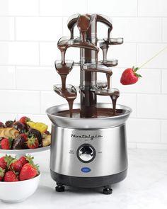 Amazon.com: Nostalgia Electrics CFF965 Mini Chocolate Fondue Fountain: Kitchen Small Appliances: Kitchen & Dining