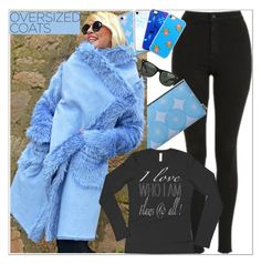 """Oversized Coat"" by atelier-briella ❤ liked on Polyvore featuring Topshop, Ray-Ban, Music Notes, bag, iPhonecases, LongSleeveShirt and oversizedcoats"