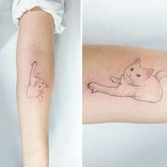 Of The Best Cat Tattoo Ideas Ever – Manplate Bicep Tattoo, Wrist Tattoos, Dog Tattoos, Animal Tattoos, Body Art Tattoos, Symbolic Tattoos, Unique Tattoos, Beautiful Tattoos, Tatto Design