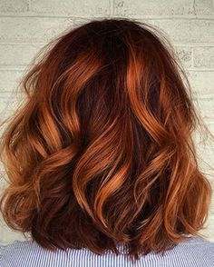 Ombre Hair - Hair Balayage: The Best Pitting Choices - Best New Hairstyle Trends Ombre Bob, Short Ombre, Beautiful Hair Color, Fall Hair, Red Hair For Fall, Autum Hair, Spring Hair, Dyed Hair, Ginger Hair Dyed