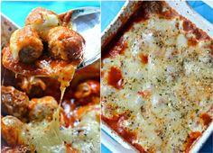 Low Carb Rezepte: Frikadelle Parmesan Auflauf