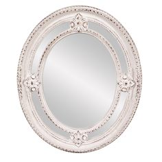 Maxine White Oval Mirror | Overstock.com Shopping - The Best Deals on Mirrors
