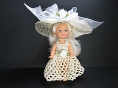 New Kelly doll plus a beautiful handmade crochet cream outfit. Items includes the handmade dress and hat. All inclusive gift by ToneyTreasures on Etsy