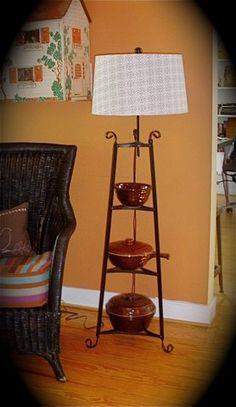 DIY lamp.  I have the shelf already