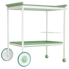 French Perforated Metal Drinks Trolley, circa 1930 1