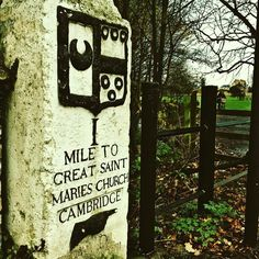 Alternative Advent Calendar by Cambridge Uni: day 1 starts with the milestones installed on the old London-Cambridge coach road by a fellow of Trinity Hall. Love it!